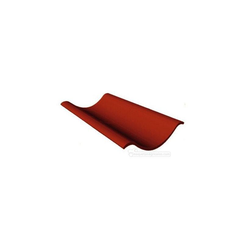Tejas de cerámica rojas (266 + 14 tejas para crestas) 280 piezas - miniatura 1:32 - Juweela 23086