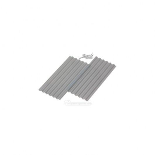 Chapas onduladas grises 30 piezas - miniatura 1:35 - Juweela 23259