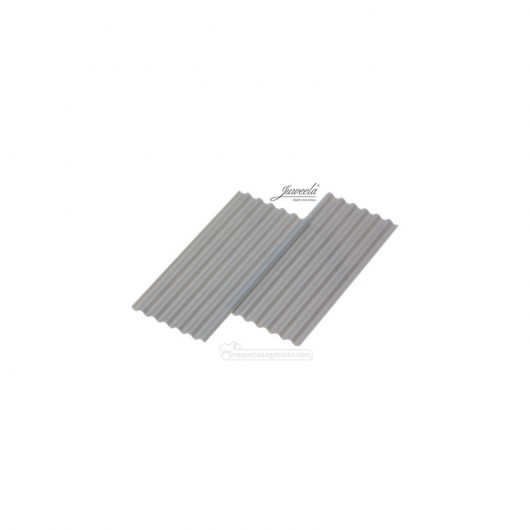 Chapas onduladas grises 50 piezas - miniatura 1:35 - Juweela 23290