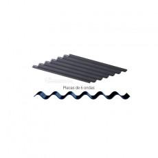 Chapas onduladas fibrocemento grises 15 piezas - miniatura 1:35 - Juweela 23246 diseño general