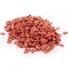 Ladrillo rojo distintos tonos (mezclado) 1000 piezas - miniatura 1:32 - Juweela 23034