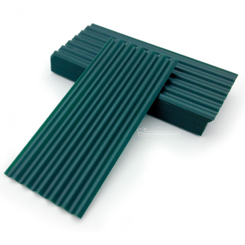 Chapas onduladas fibrocemento grises 15 piezas - miniatura 1:35 - Juweela 23246
