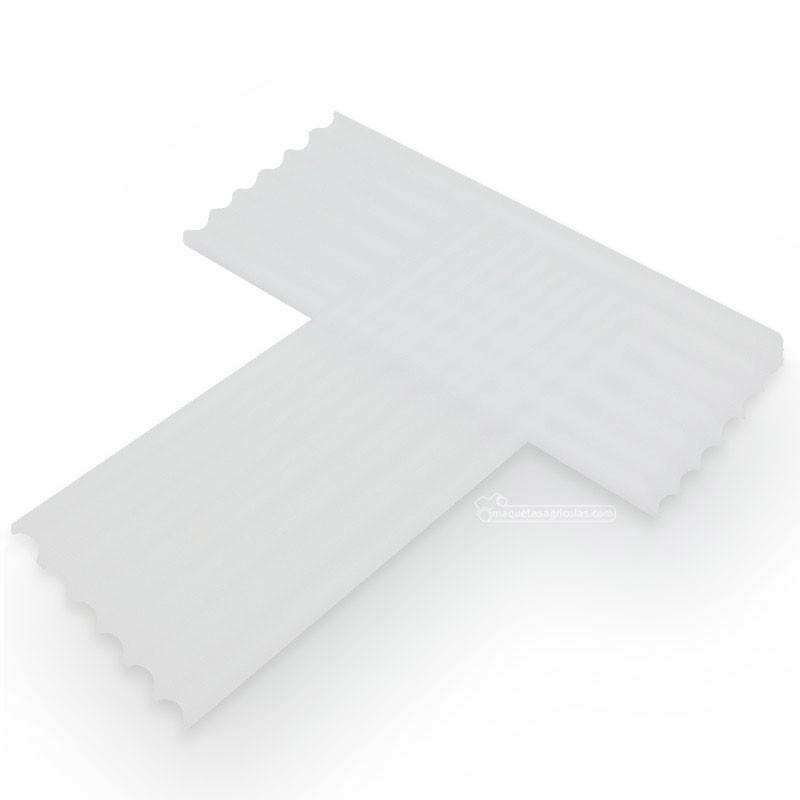 Chapas onduladas translucidas 6 piezas - miniatura 1:32/1:35 - Juweela 23247