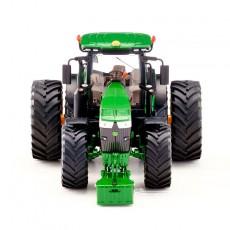 Tractor John Deere 7310R doble rueda - Miniatura 1:32 - Wiking 077846 vista frontal
