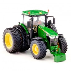 Tractor John Deere 7310R doble rueda - Miniatura 1:32 - Wiking 077846 perfil derecho