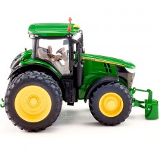 Tractor John Deere 7310R doble rueda - Miniatura 1:32 - Wiking 077846 vista lateral