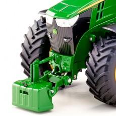Tractor John Deere 7310R doble rueda - Miniatura 1:32 - Wiking 077846 detalle frontal