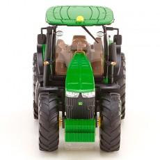 Tractor John Deere 7260R - Miniatura 1:87 - Wiking 035801 vista frontal