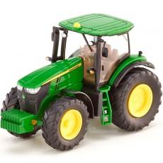 Tractor John Deere 7260R - Miniatura 1:87 - Wiking 035801 perfil izquierdo