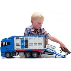 Camión ganadero SCANIA - Miniatura 1:16 - Bruder 03549
