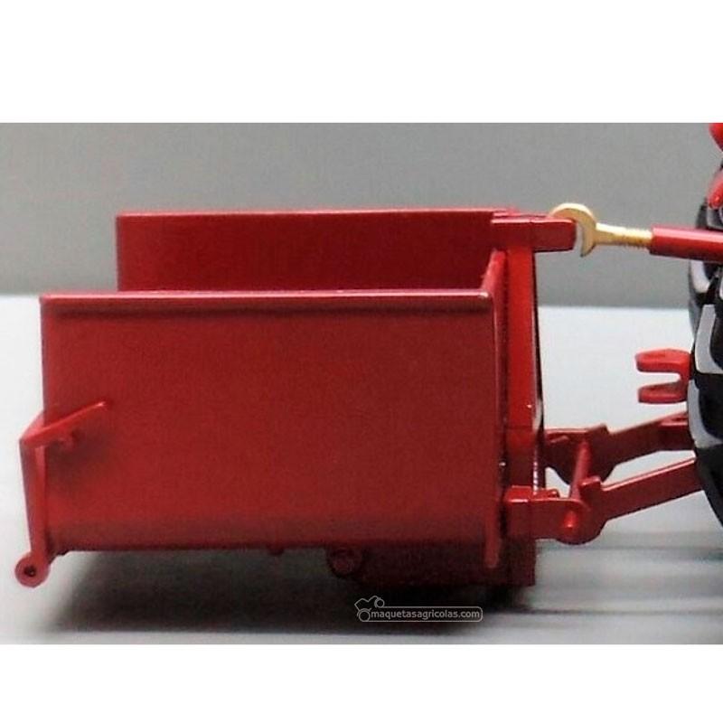 Cajón trasero para tractor rojo - Miniatura 1:32 -  Replicagri REP140