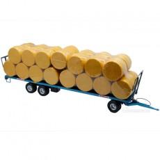 Remolque plataforma de pacas Maupu azul - Miniatura 1:32 - Replicagri REP233