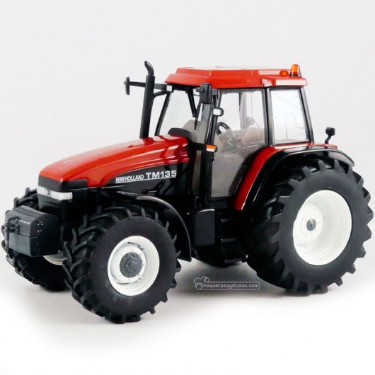 Tractor New Holland TM135 terracota - Miniatura 1:32 -  Replicagri REP221