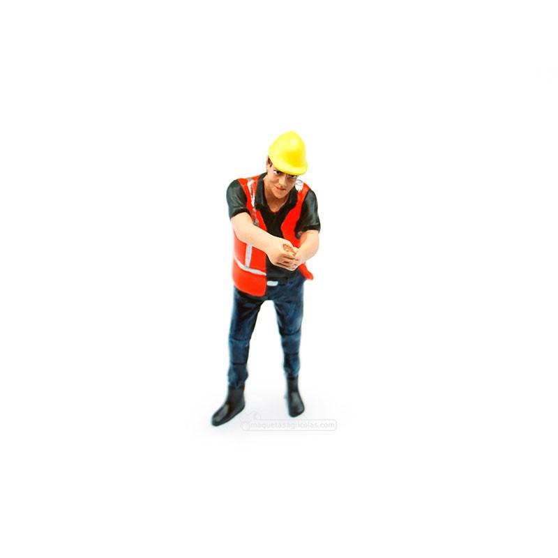 Figura tirando de cadena - Miniatura 1:32 - ADF 32144