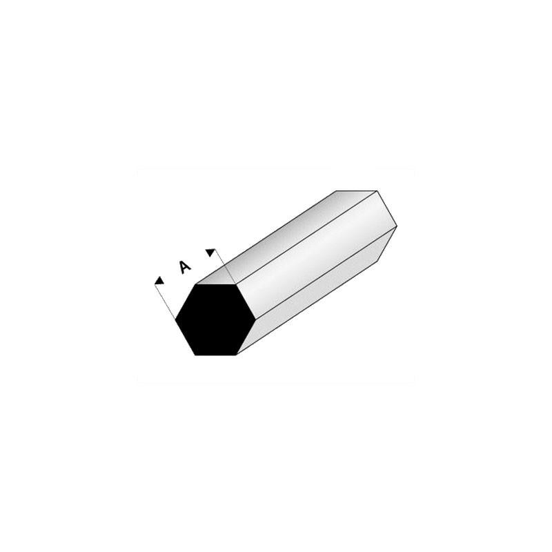 Perfil hexagonal macizo de estireno 33 cm de longitud (Lote de 3) - Elige las medidas que quieras - Artisan 2406