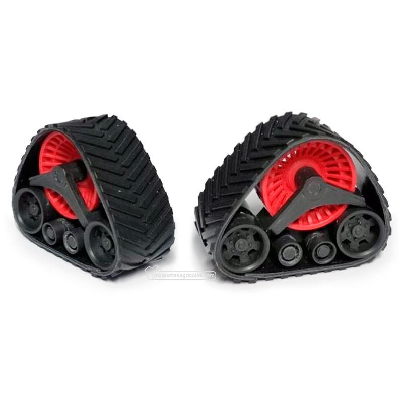 Pareja de orugas traseras color rojo - Miniaturas 1:32 para montar - Artisan 01315R Pareja