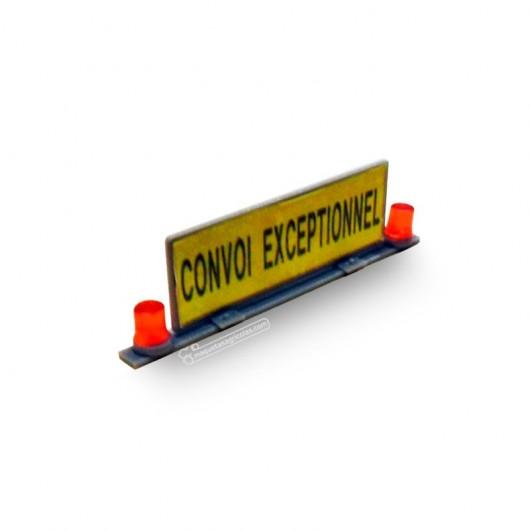 Kit panel señalización de transporte excepcional con rotativos - Miniaturas 1:32 para montar - Artisan 04615-2