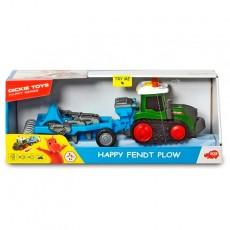 Tractor happy Fendt con grada - juguete - Dickie Toys 3815003 caja