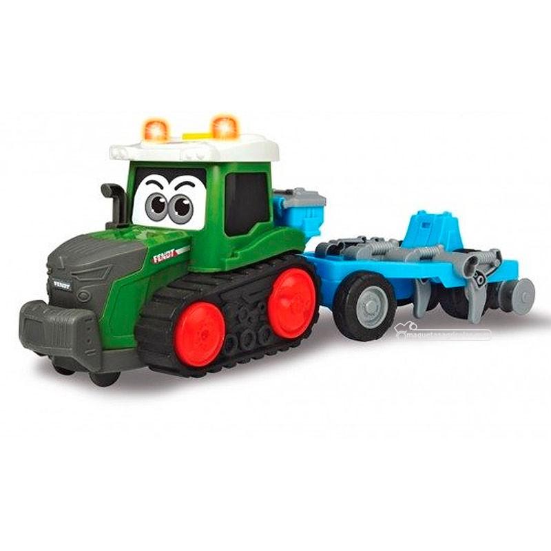 Tractor happy Fendt con grada - juguete - Dickie Toys 3815003