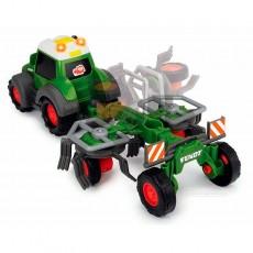 Tractor happy Fendt con rastrillo - juguete - Dickie Toys 3815002 vista posterior