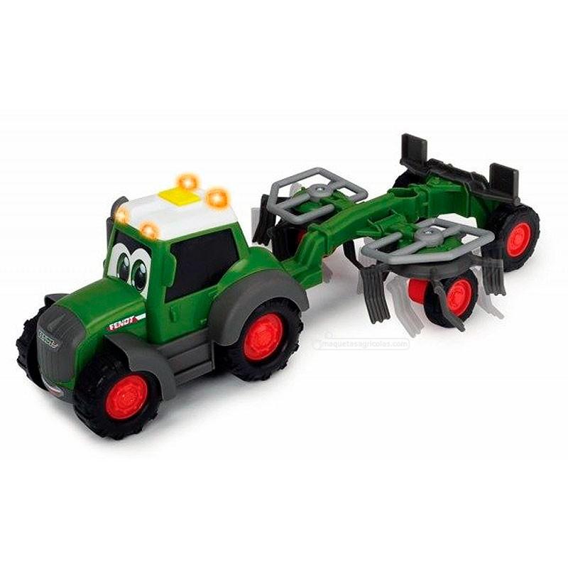 Tractor happy Fendt con rastrillo - juguete - Dickie Toys 3815002