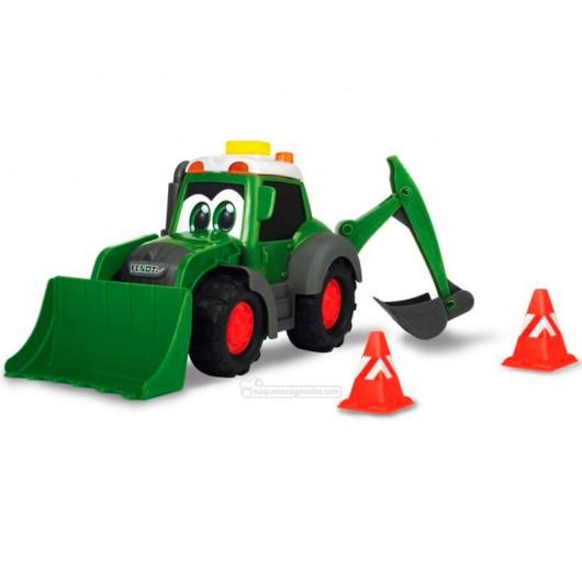 Tractor happy Fendt con pala y retro - juguete - Dickie Toys 3814013