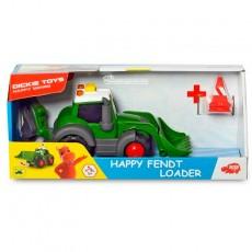 Tractor happy Fendt con pala y retro - juguete - Dickie Toys 3814013 caja