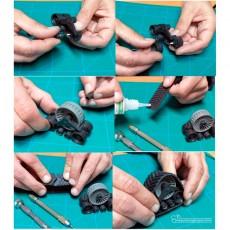 Pareja de orugas traseras color rojo - Miniaturas 1:32 para montar - Artisan 01315B montaje