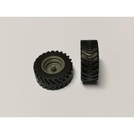 Par de ruedas de remolque 32 x 13 mm - Miniaturas 1:32 - Artisan 04290