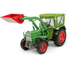 Tractor Fendt Farmer 5S con cabina Peko y cargador frontal BAAS - 4WD - Miniatura 1:32 - UH5310