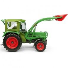 Tractor Fendt Farmer 5S con cabina Peko y cargador frontal BAAS - 4WD - Miniatura 1:32 - UH5310 vista lateral