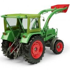 Tractor Fendt Farmer 5S con cabina Peko y cargador frontal BAAS - 4WD - Miniatura 1:32 - UH5310 perfil trasero