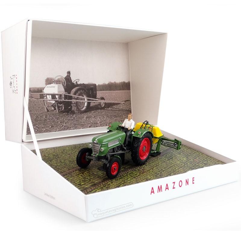 Pulverizador Amazone 300S con Fendt Farmer 2 en caja de coleccionista  - Edición limitada 1000 piezas - Miniatura 1:32 - UH 6201