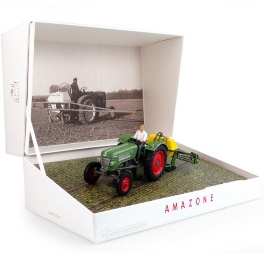 Pulverizador Amazone 300S con Fendt Farmer 2 en caja de coleccionista  - Edición limitada 1000 piezas - Miniatura 1:32 - UH6201