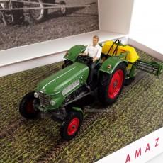 Pulverizador Amazone 300S con Fendt Farmer 2 - Ed. limitada 1000 piezas - Miniatura 1:32 - UH 6201 frontal