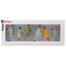 Transeúntes (3 mujeres y 3 hombres) - Miniatura 1:32 - Presier 63203 caja