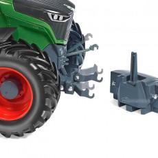 Tractor Fendt 942 Vario - Miniatura 1:32 - Wiking 077839 detalle delantero
