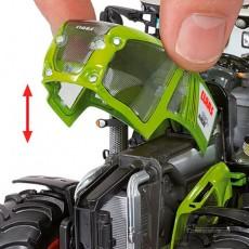 Tractor Claas Axion 930 Terra Trac - Miniatura 1:32 - Wiking 077839 detalle capó y motor
