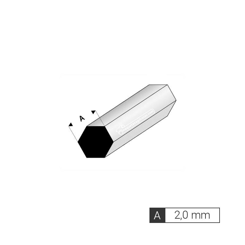 Perfil hexagonal de 2 mm de estireno (3 tiras de 33 cm) - Artisan 240651
