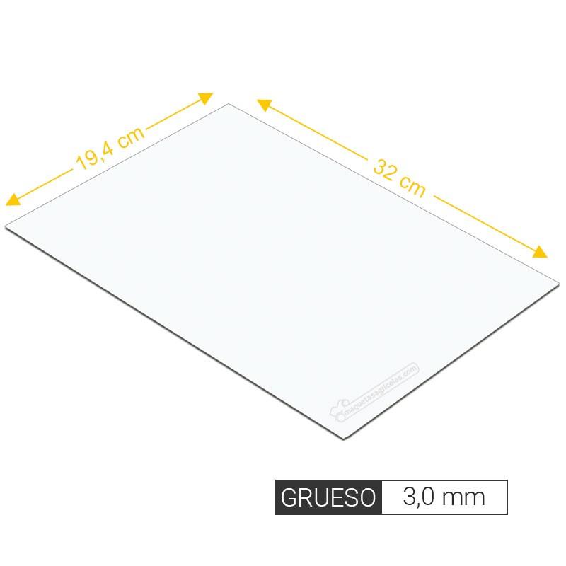 Plancha lisa de estireno 3,0 mm de grosor tamaño 194 x 320 mm - Artisan 260107