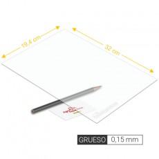 Plancha de PVC transparente de 0,15 mm de grosor tamaño 194 x 320 mm - Artisan 260201