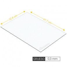 Plancha lisa de estireno 0,3 mm de grosor tamaño 238 x 477 mm - Artisan 265101