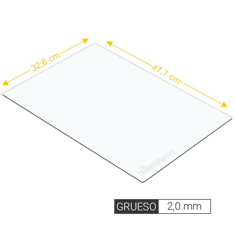 Plancha lisa de estireno 2,0 mm de grosor tamaño 238 x 477 mm - Artisan 265106