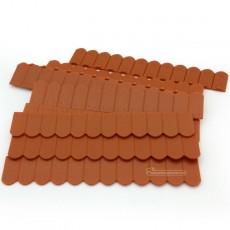 Teja plana roja plástico 9x12 - Miniatura 1:32 / 1:35 - Juweela 23243