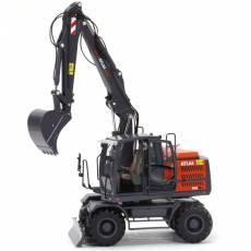 Excavadora de ruedas Atlas 160W con neumáticos Nokian - Miniatura 1:32 - AT3200150 brazo levantado