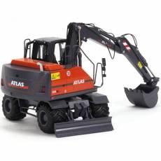 Excavadora de ruedas Atlas 160W con neumáticos Nokian - Miniatura 1:32 - AT3200150 vista posterior derecha
