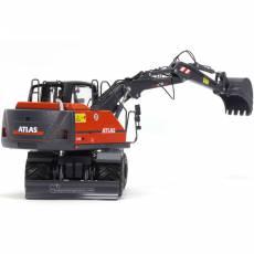 Excavadora de ruedas Atlas 160W con neumáticos Nokian - Miniatura 1:32 - AT3200150 vista posterior