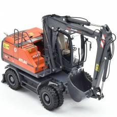 Excavadora de ruedas Atlas 160W Blue Mitas con neumáticos Nokian - Miniatura 1:32 - AT3200151 perfil derecho