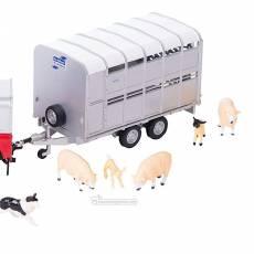 Todoterreno Land Rover con remolque, pastor, ovejas y perros - Miniatura 1:32 - Britains 43138