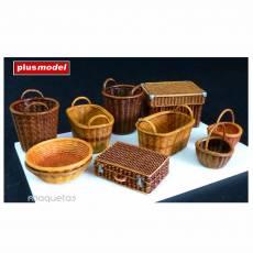 Kit cestas de mimbre grandes - Para Maquetar - Miniatura 1:35 - Plus Model 537